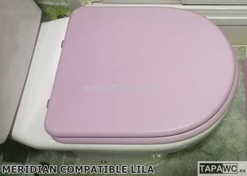 tapa wc meridian compatible color diseño lila