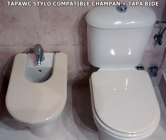 TAPAWC CON TAPA BIDE STYLO COMPATIBLE CHAMPAN FOTO AMIGO