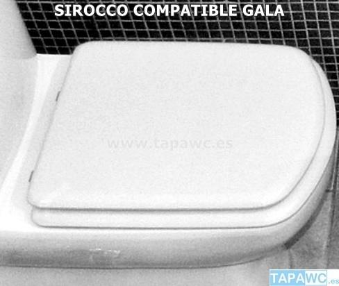 Asiento inodoro SIROCCO tapawc compatible Gala