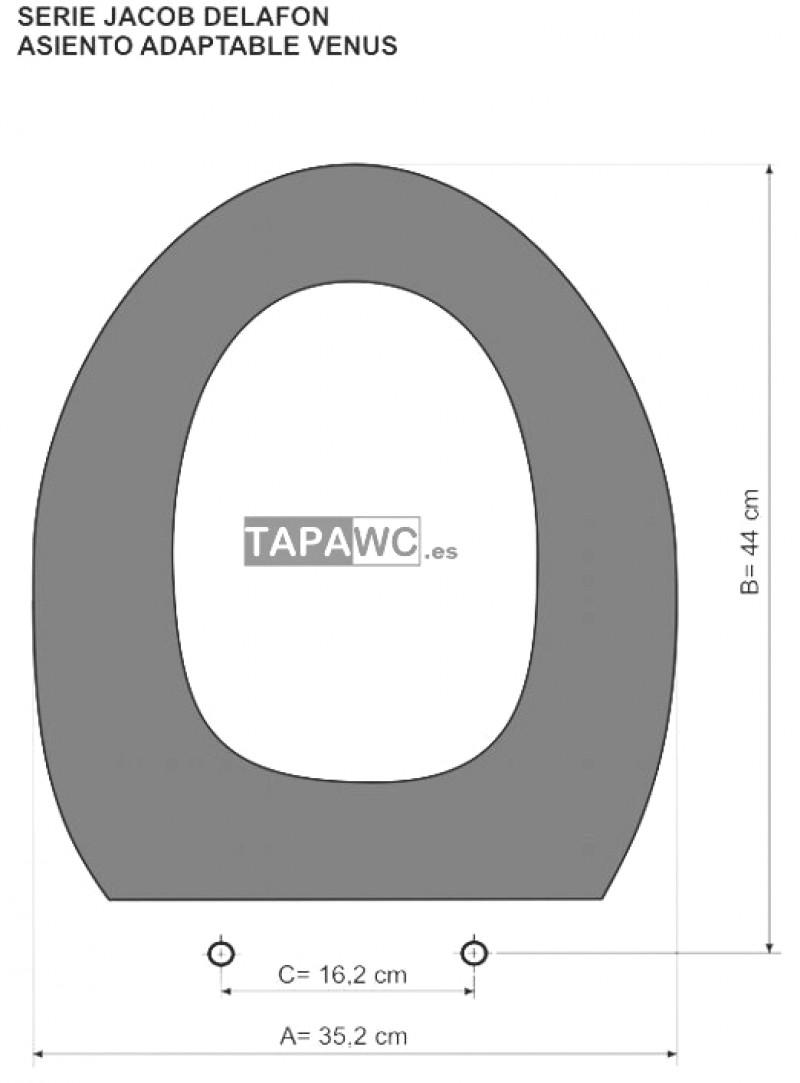 Asiento inodoro VENUS tapawc compatible AMORTIGUADO Jacob Delafon