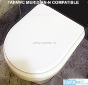 Asiento inodoro MERIDIAN-N tapawc compatible Roca