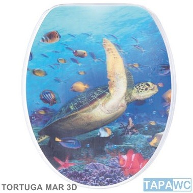 Asiento TORTUGA MAR 3D tapawc decora