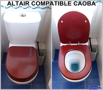 Tapa inodoro compatible CAOBA tapawc madera