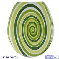 Asiento inodoro espiral verde tapawc exclusiv decora for Inodoro verde