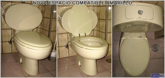 Asiento inodoro nova espacio tapawc compatible gala novo - Tapas de water roca ...