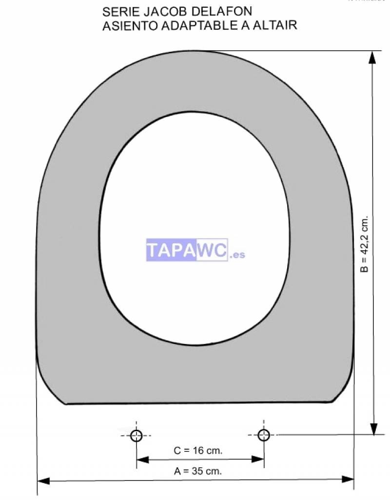 Asiento ALTAIR amortiguado tapawc compatible Jacob Delafon