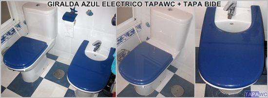 Tapa inodoro compatible AZUL ELECTRICO tapawc