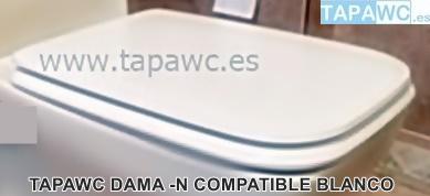 Asiento inodoro DAMA-N compatible tapawc Roca