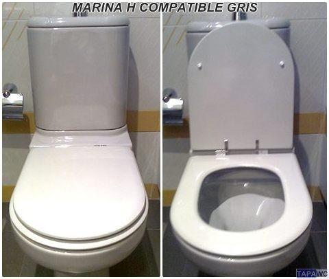 Asiento inodoro marina h tapawc compatible gala anterior for Tapaderas de wc