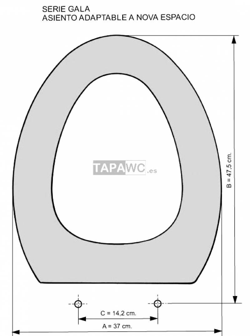 Asiento inodoro NOVA ESPACIO tapawc compatible Gala