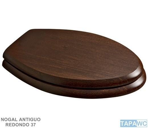 Asiento nogal antiguo tapawc madera for Inodoro roca antiguo