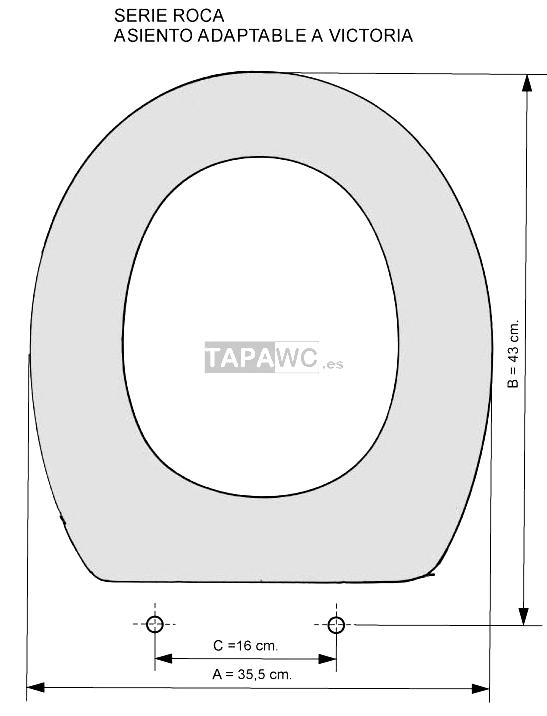 Asiento inodoro victoria tapawc compatible roca adaptable for Inodoro modelo victoria
