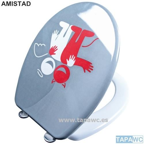 Asiento AMISTAD DEMONIO ANGEL duroplast tapawc decora