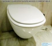 Asiento inodoro SUSPENDIDO EUROPA tapawc compatible Porsan/Sangra