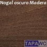 Tapa inodoro compatible NOGAL OSCURO tapawc madera