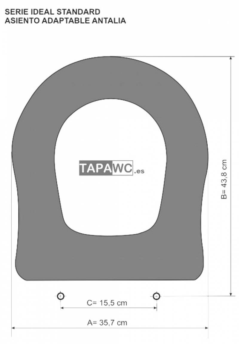 Asiento inodoro ANTALIA tapawc compatible Ideal Standard