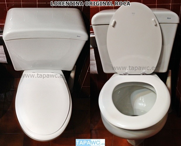 Asiento inodoro LORENTINA original tapawc Roca