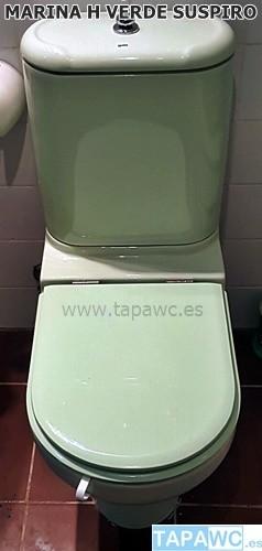 Asiento inodoro marina h tapawc compatible gala anterior for Inodoro verde