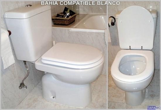 asiento inodoro bahia tapawc compatible sangra