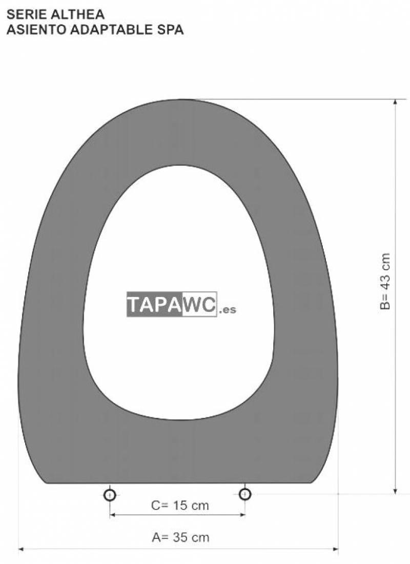 Asiento inodoro SPA tapawc compatible Althea
