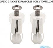 Juego 2 Tacos expansor + 2 tornillo para taco expansor