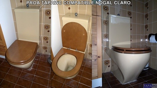 Tapa inodoro compatible nogal claro tapawc madera for Color nogal claro