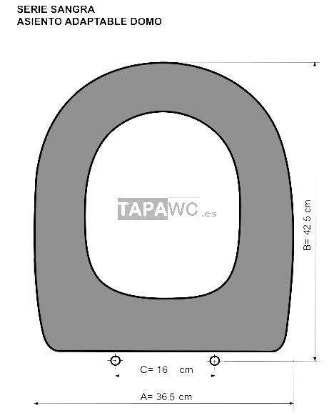Asiento inodoro domo tapawc compatible sangra for Mejores marcas de inodoros