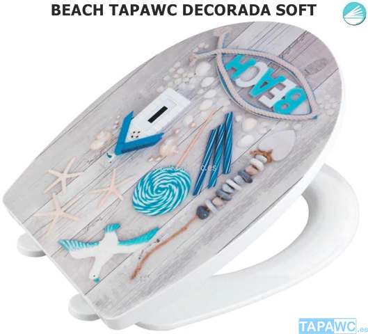 Tapa Wc BEACH AMORTIGUADO Tapawc  Decora