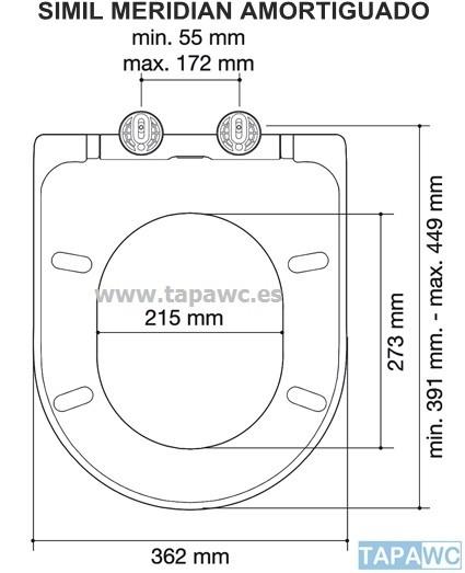 Asiento MERIDIAN SIMIL rt36 amortiguado duroplast tapawc