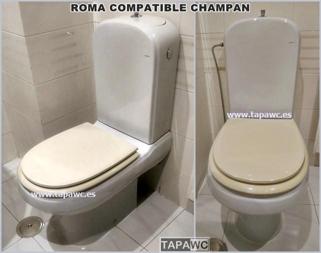 Asiento inodoro ROMA tapawc compatible Porsan Sangra