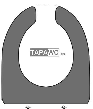 Asiento inodoro HERRADURA tapawc compatible