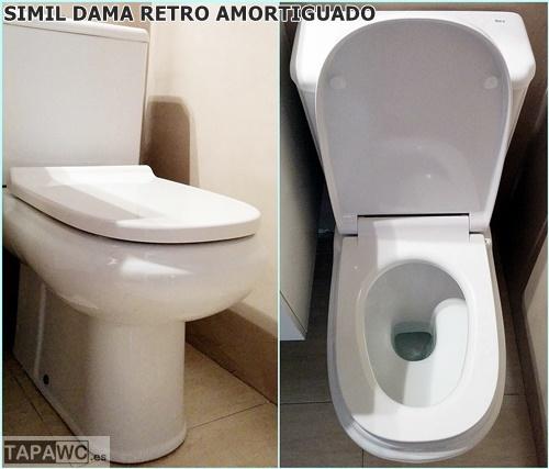 Asiento DAMA RETRO SIMIL amortiguado duroplast tapawc