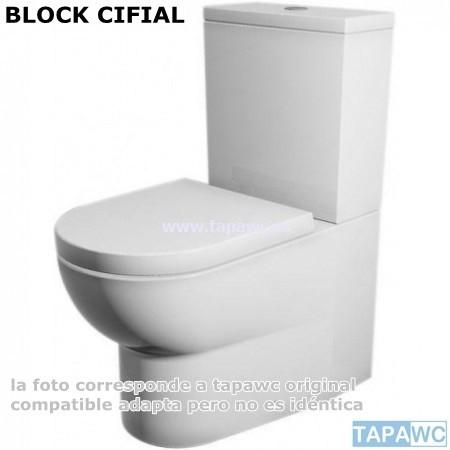 Asiento inodoro BLOCK tapawc compatible Cifial