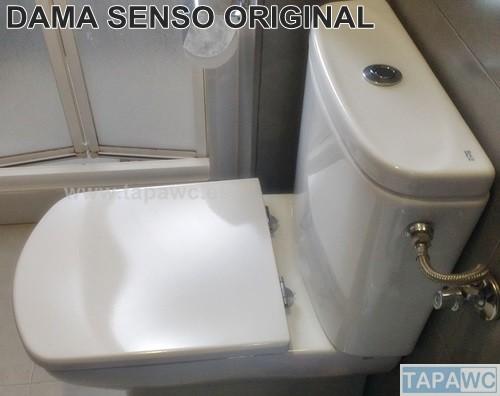 Asiento inodoro DAMA SENSO COMPACTO original  tapawcRoca