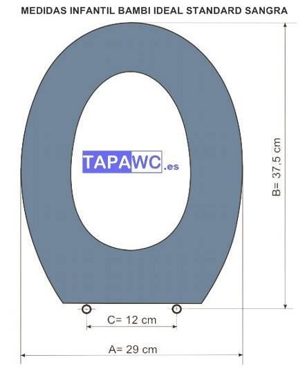 Asiento inodoro Infantil BAMBI SANGRA Ideal Standard tapawc