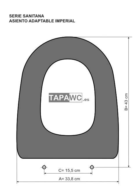 Asiento inodoro IMPERIAL tapawc compatible Sanitana