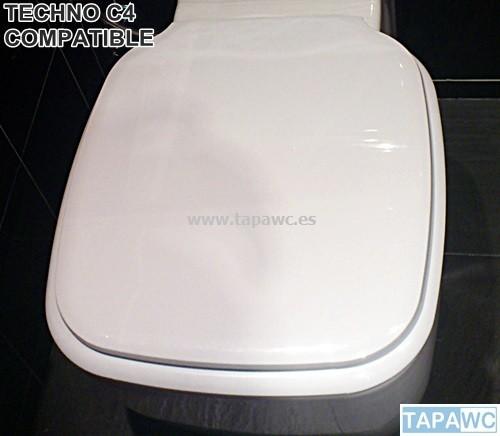 Asiento inodoro TECHNO C4 fijo tapawc compatible Cifial