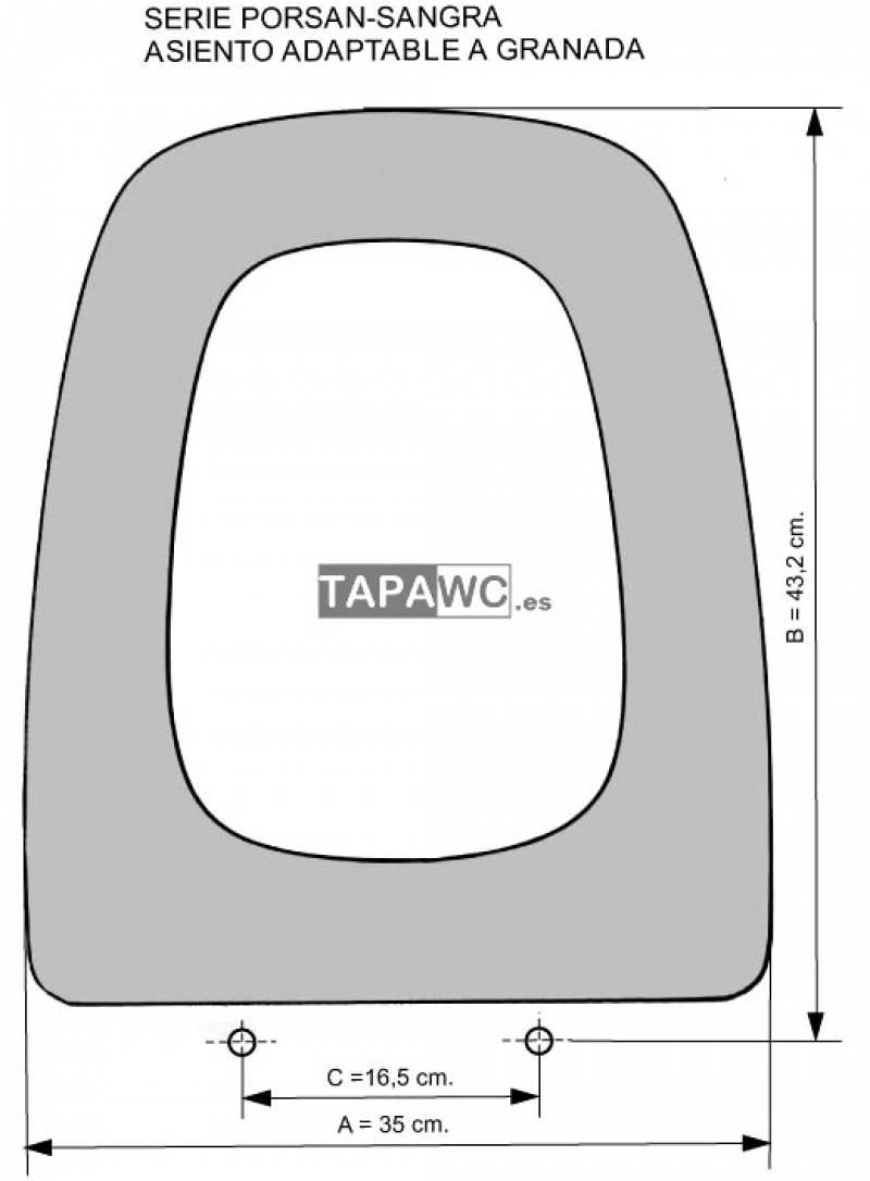 Asiento inodoro GRANADA ANT tapawc compatible Sangra