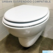 Asiento inodoro URBAN SUSPENDIDO tapawc compatible Noken