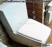 Asiento CARENA aro CERRADO tapawc compatible Roca