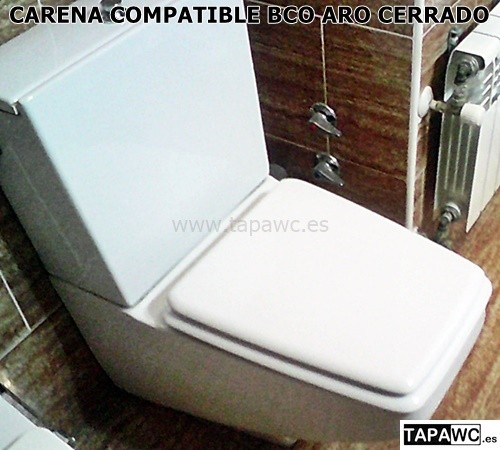 Asiento CARENA aro ABIERTO HERADURA tapawc compatible Roca