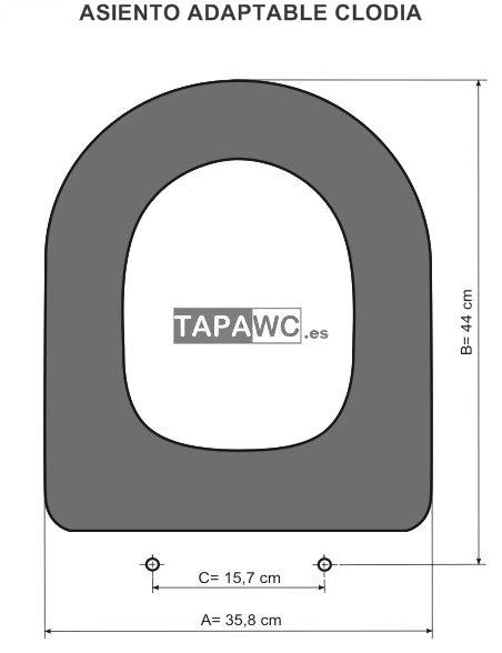 Asiento inodoro CLODIA tapawc compatible Dolomite