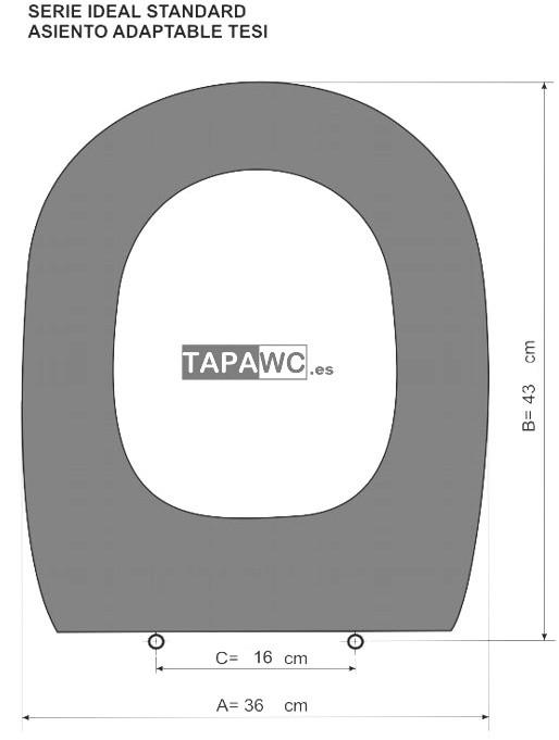 Asiento inodoro TESI tapawc compatible Ideal Standard