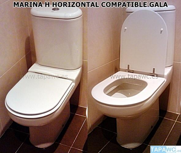 Asiento inodoro MARINA H tapawc compatible Gala