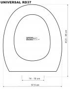 Tapa inodoro  REDONDO 37 DMF tapawc standard