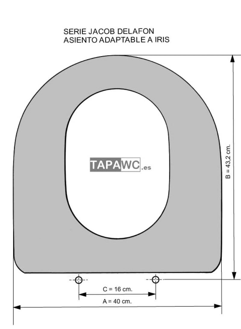 Asiento inodoro IRIS tapawc compatible Jacob Delafon