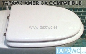 Asiento inodoro AMERICA tapawc compatible Roca