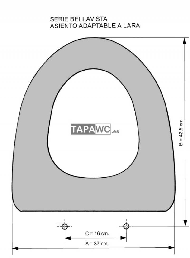 Asiento inodoro LARA tapawc compatible Bellavista