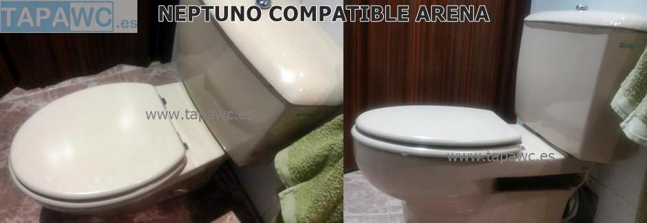 Asiento inodoro NEPTUNO tapawc compatible Jacob Delafon