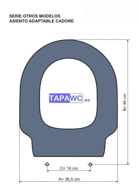 Asiento inodoro CADORE tapawc compatible Facis